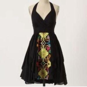 Anthropologie Floreat embroidered halter dress 6